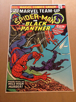 Marvel Team-Up # 20 - Spider-Man & Black Panther / Nd In Uk - Marvel 1974