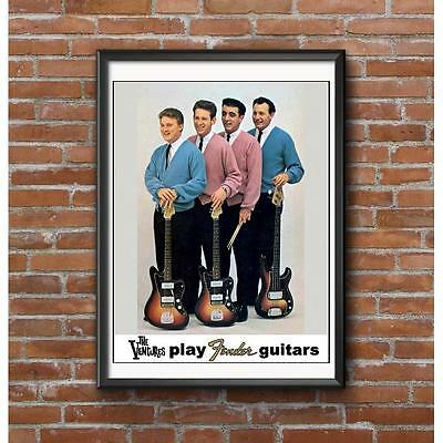 The Ventures Poster - Early 1960's Instrumental Band