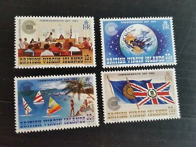 British Virgin Islands 1983 Sg 500-503 Commonwealth Day  Mnh