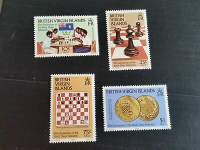 British Virgin Islands 1984 Sg 522-525 60Th Anniv Of Chess Federation Mnh