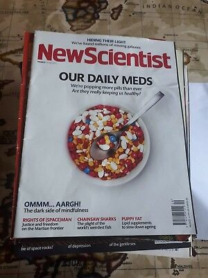70 copies of New Scientist Magazine from 2015 / 2016.