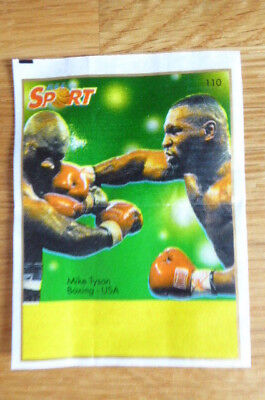 Mike Tyson Usa Boxing Kent Gum Wax Wrapper Insert 1996  Rare