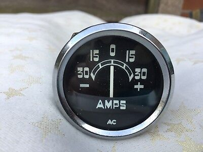 Ac Amps Gauge Ammeter Tvr Landrover Genuine In Vgc Working