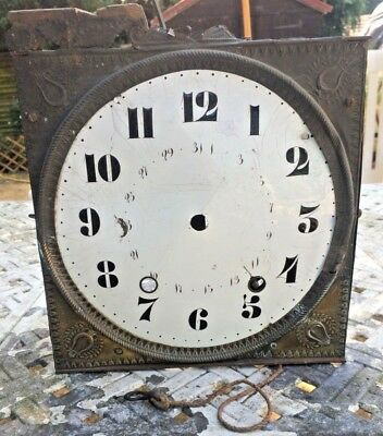 French 19th Century Comptoise Clock Movement for spares or repairs