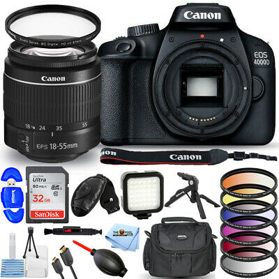 Canon EOS 4000D / Rebel T100 with EF-S 18-55mm f/3.5-5.6 III Lens PRO BUNDLE