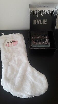 kylie cosmetics limited edition christmas stocking / bnib / white