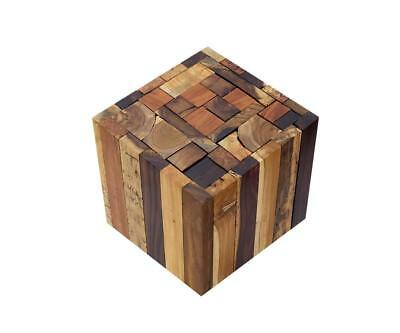 Rustic Natural Wooden Side End Table Sofa Bedside Square Stool Coffee Table Hall