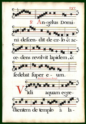 Music for The Mass on Easter Sunday  Antiphonal 1725 Music Leaf  Lovely Stencils