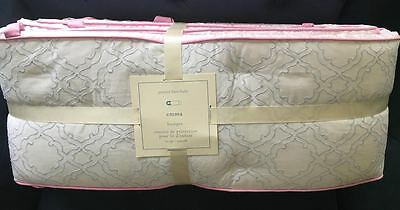 Pottery Barn Kids Emma Trellis Pink White Crib Bumper NEW SOLD OUT @PBK
