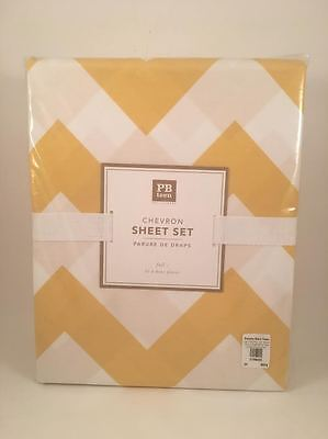 Pottery Barn Teen Chevron Full Sheet Set Yellow NEW SOLD OUT @PBT