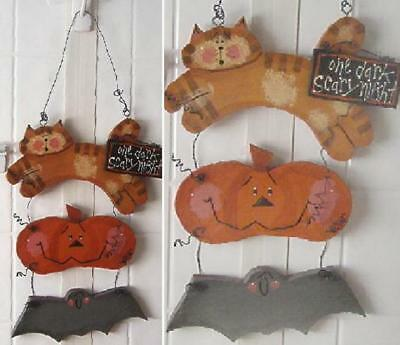 Handcrafted Halloween Three Tier Wood & Wire Plaque Hanging Decoration