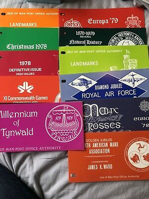 ISLE OF MAN Presentation Packs Approx 40 Stamps All Mint