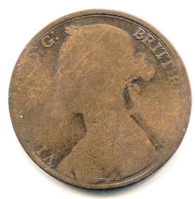 Great Britain Young Victoria No Date Large One Penny Coin - United Kingdom