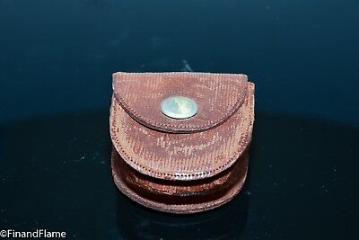 Early Scarce 1918 Pocket Collapsible Telescoping Drinking Cup Leather Pouch C90