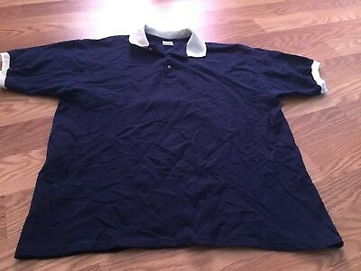 "Men's size XL M Resort Spa Casino Las Vegas navy polo shirt top 31""L 52""chest"