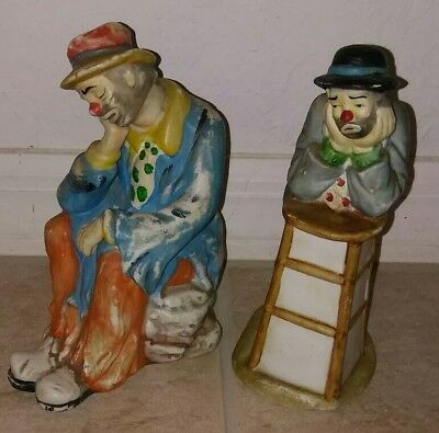 FLAMBRO The Emmett Kelly Jr Collection Clown Figurines Set of 2 Hobo and Why Me