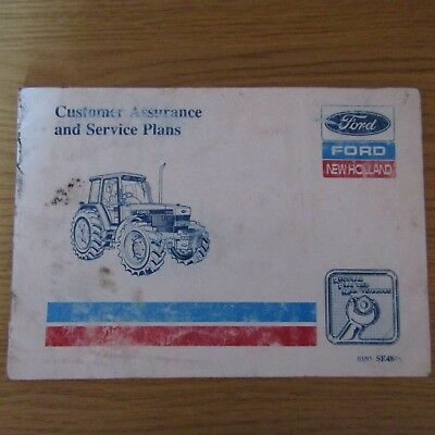 FORD NEW HOLLAND Tractor Empty Blank Service Book 1993