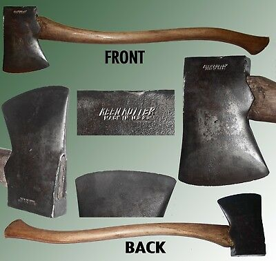 """Early Keen Kutter Axe With A Jersey Pattern Head On A 28"""" Ash Handle"""