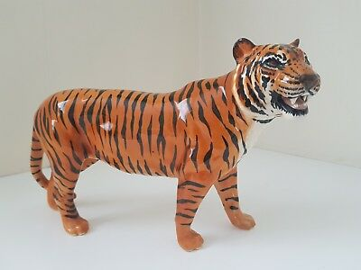 Beswick Pottery - Large Hand Painted Tiger - Vintage