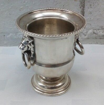 Vintage Silver Plated Viners Of Sheffield Egg Cup Lion Urn