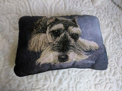 Miniature Schnauzer pillow by LInda Picken Manual Woodworkers