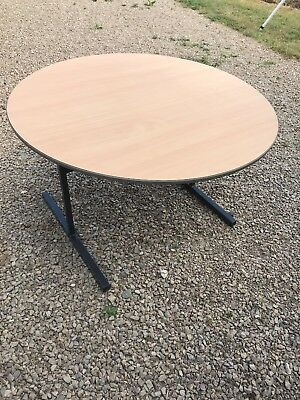4ft OFFICE MEETING ROOM TABLE folding round Conference