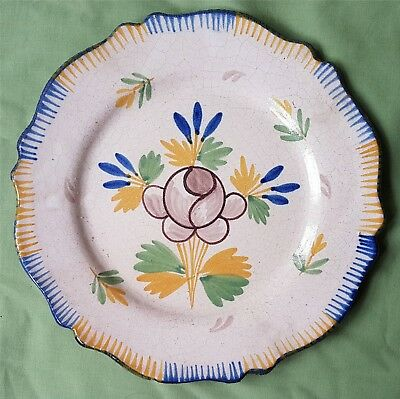 Antique Plate tin glazed Plate decorated with Flowers