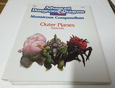 TSR 2118 AD&D 2nd ed Monstrous Compendium Outer Planes