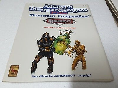TSR 2139 AD&D 2nd ed Monstrous Compendium Ravenloft II