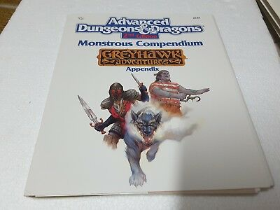 TSR 2107 AD&D 2nd ed Monstrous Compendium Greyhawk