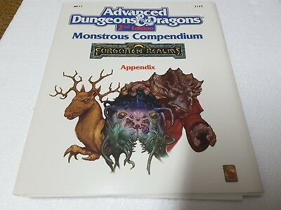 TSR 2125 AD&D 2nd ed Monstrous Compendium Forgotten Realms