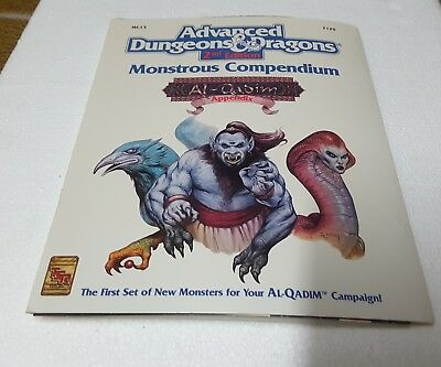 TSR 2129 AD&D 2nd ed Monstrous Compendium Al-Qadim