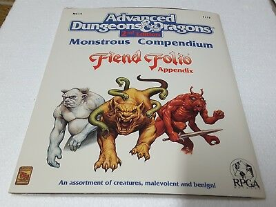 TSR 2132 AD&D 2nd ed Monstrous Compendium Fiend Folio