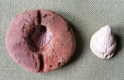 Roman or Egyptian Pottery Bead Mould, looks like a Rams Head Bead?