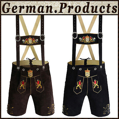 Authentic Oktoberfest German Bavarian Traditional Short Kurze Lerderhosen Outfit