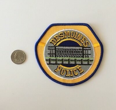 Desmoines Iowa Police Department Patch IA