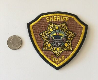 County Of Boundary Idaho Sheriff Department Police Patch ID