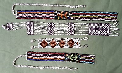 Four finely made African Zulu? Beadwork Straps Belts