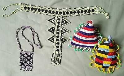 Finely made African Zulu? Beadwork hangings and others