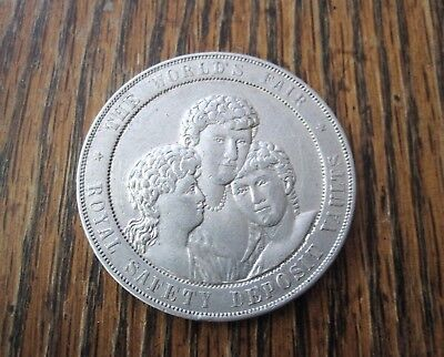 1893 Columbian World's Fair Token, Good for $1 Royal Safety Deposit Vaults Medal