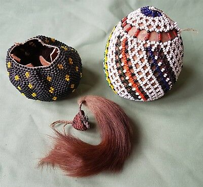 Nicely made African Zulu? Beadwork covered Gourds