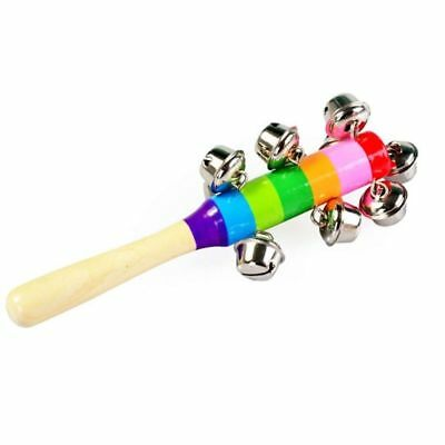 Colorful wooden bell Orff instruments Baby Rattles 10 percussion string of bells