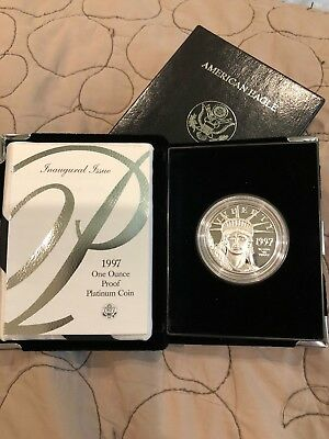 1997 West Point One Oz. Platinum American Eagle Proof $100 coin