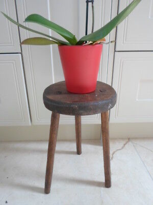 Vintage French lightweight plant stand, turned top