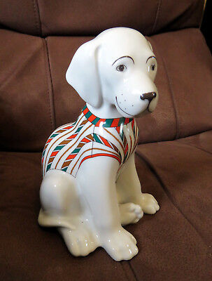 Imperial Porcelain 1744 St Petersburg Russian Dog Wearing A Jumper