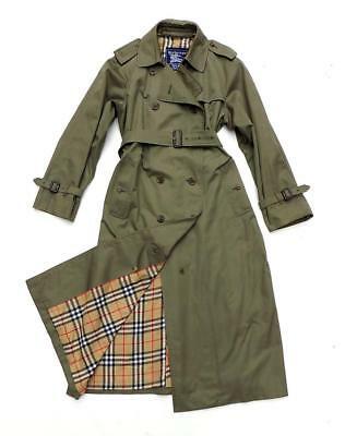 Burberry Trench Coat/mac/raincoat Khaki/green Inc Wool Liner Uk 14 Us 10 Eu 42