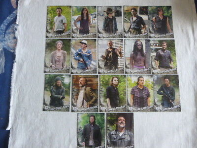 Walking Dead Road to Alexandria 17 Character Cards C-1 to C-20,missing 8,11,14
