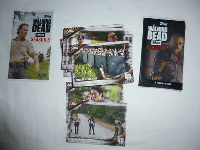 The Walking Dead Season 6,31 base cards,2 Locations,W3,C16+card trader+2wrappers