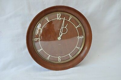 Lovely Rare Vintage Smiths 8 Day Wall Clock - Art Deco Piece - Spares / Repairs