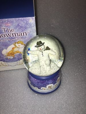 Raymond Briggs The Snowman Musical Windup Snow Globe 'Walking In The Air' RARE